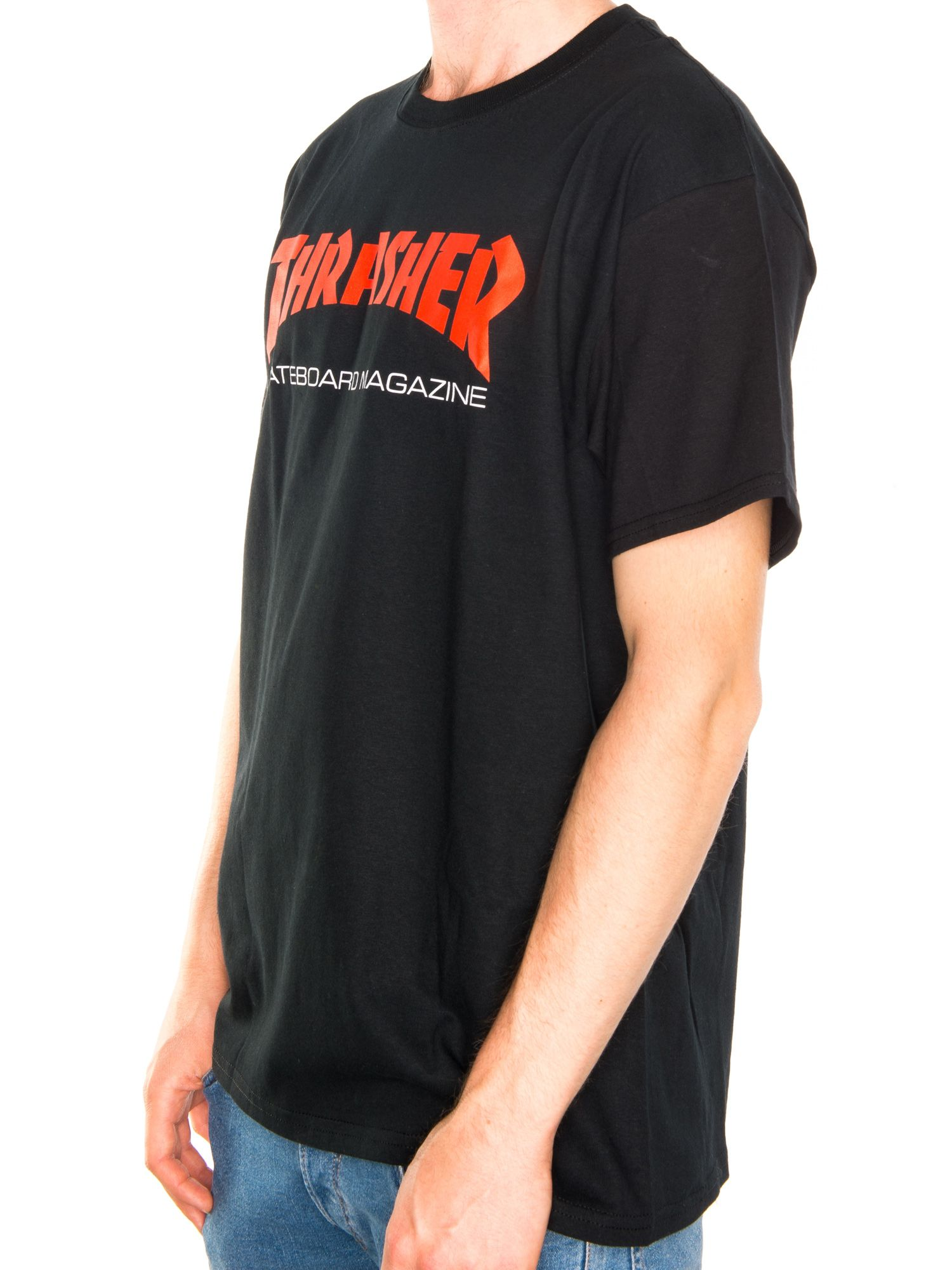 47756879a Thrasher. Skate Mag Two-Tone T-Shirt. Black