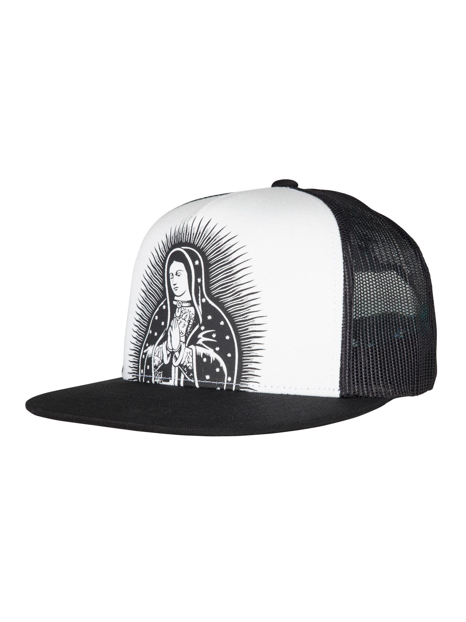 6f69d60d2cd155 Santa Cruz. Guadalupe Mesh Cap. White/Black