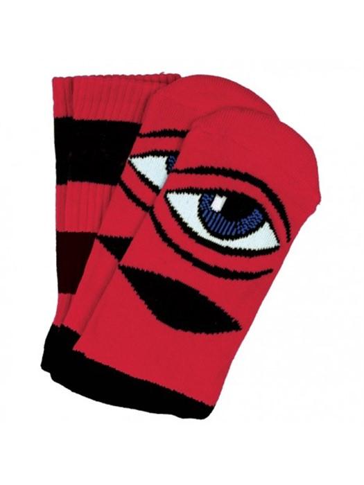 Sect Eye Big Strip Crew Socks Illumate Deck Toy Machine Orange