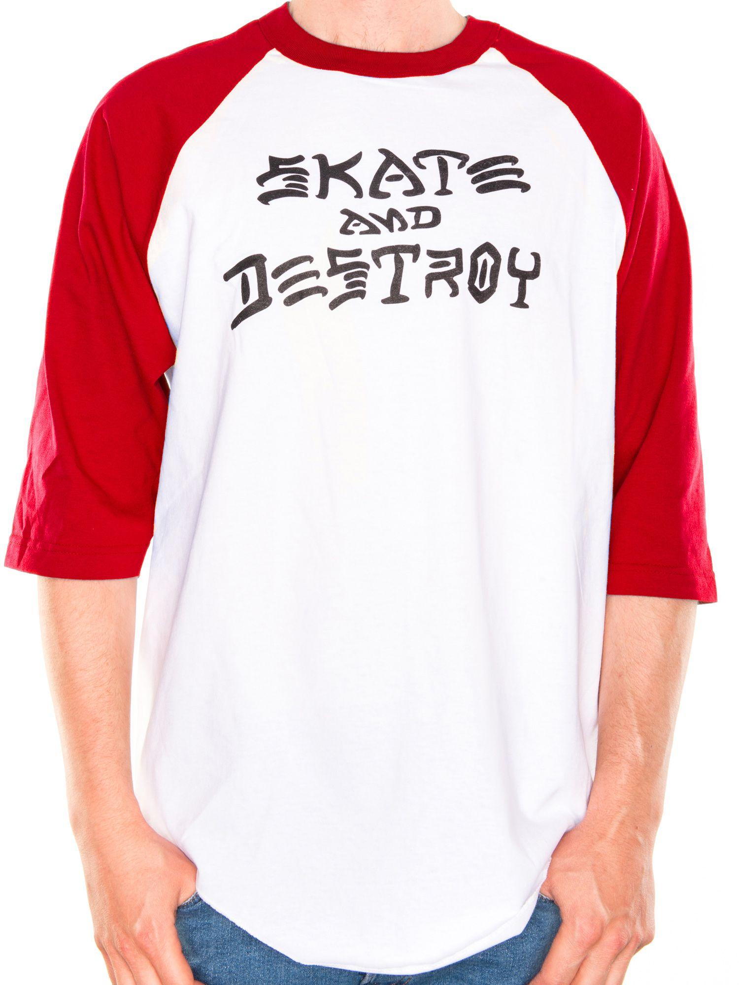 41e6a00e34e2 Thrasher. Skate and Destroy Raglan. White/Red
