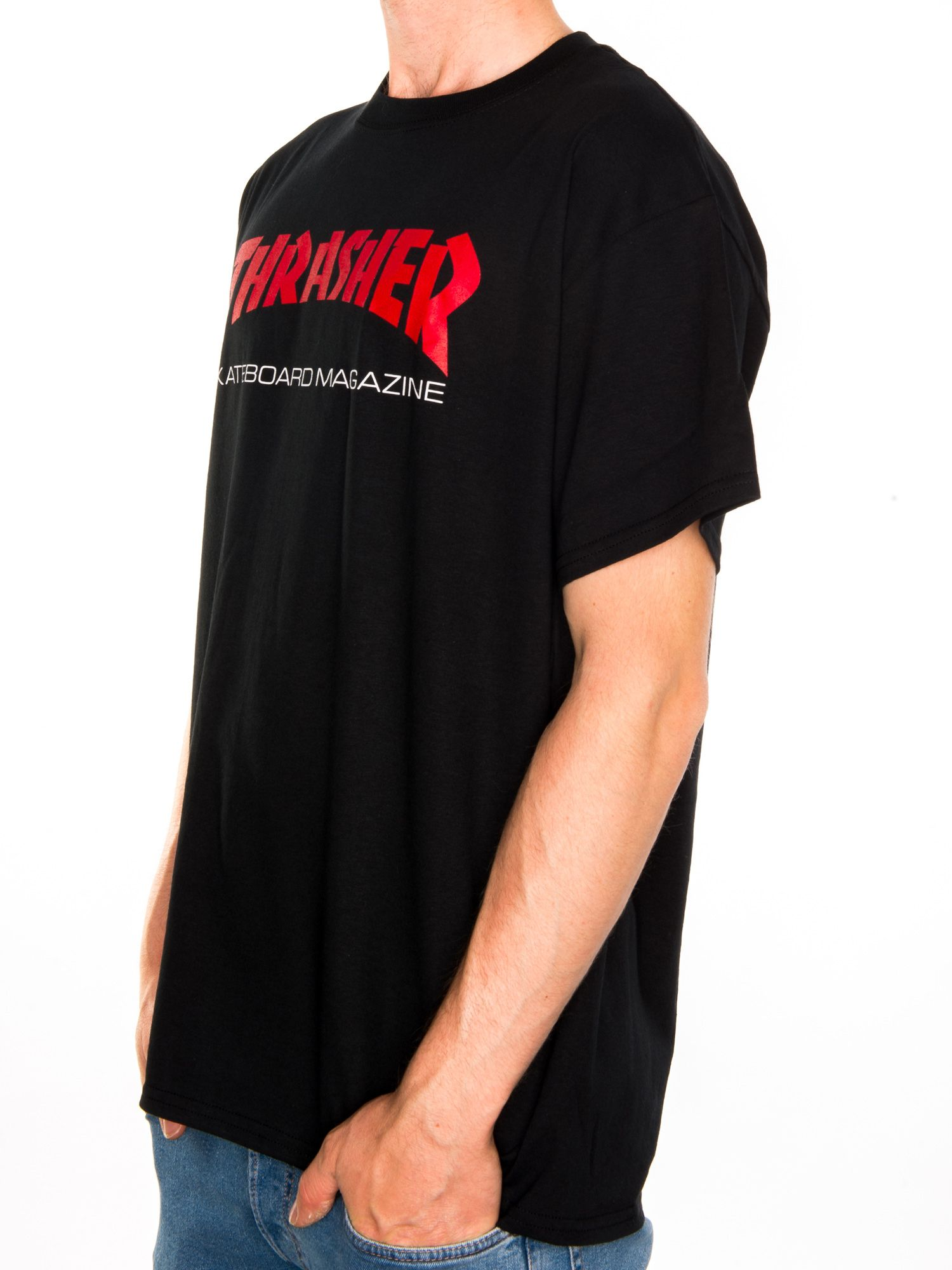 0e00aeddca78 Thrasher. Resurrection T-Shirt. Black
